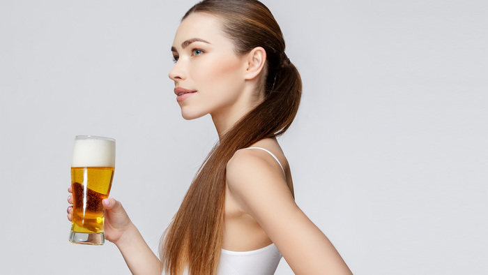 Beer for skin and hair
