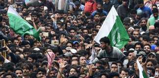 terrorist funeral procession in kashmir