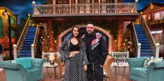 Sonakshi Sinha and Badshah on the sets of The Kapil Sharma Show