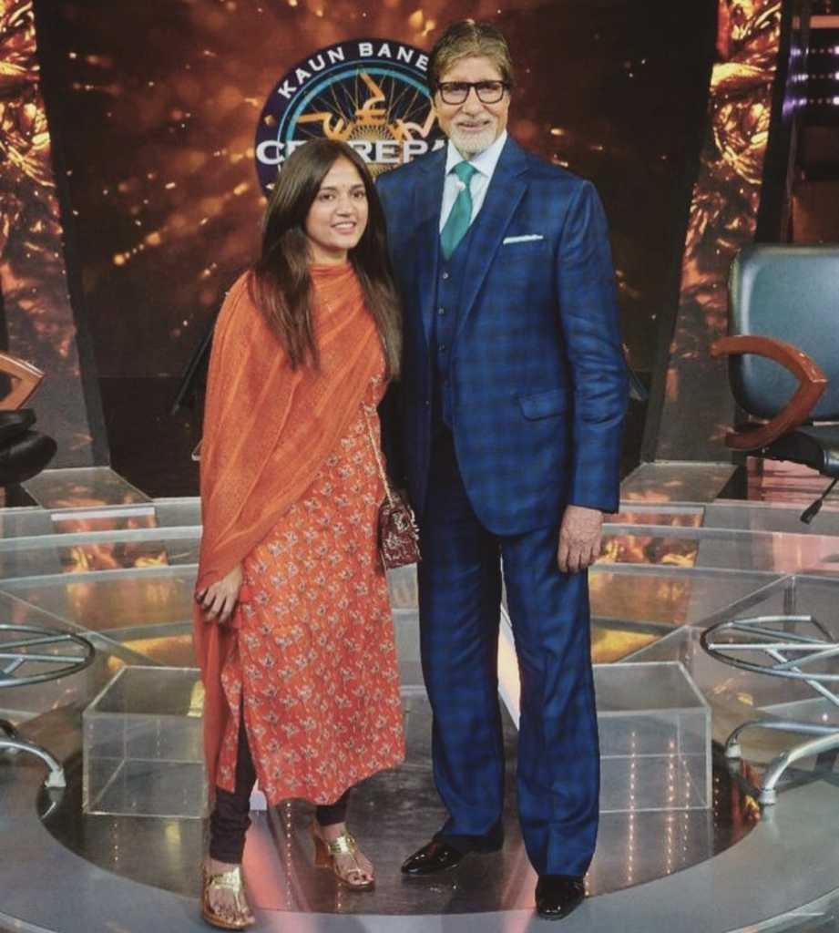 Priya Patil with Amitabh Bachchan on Kaun banega Crorepati