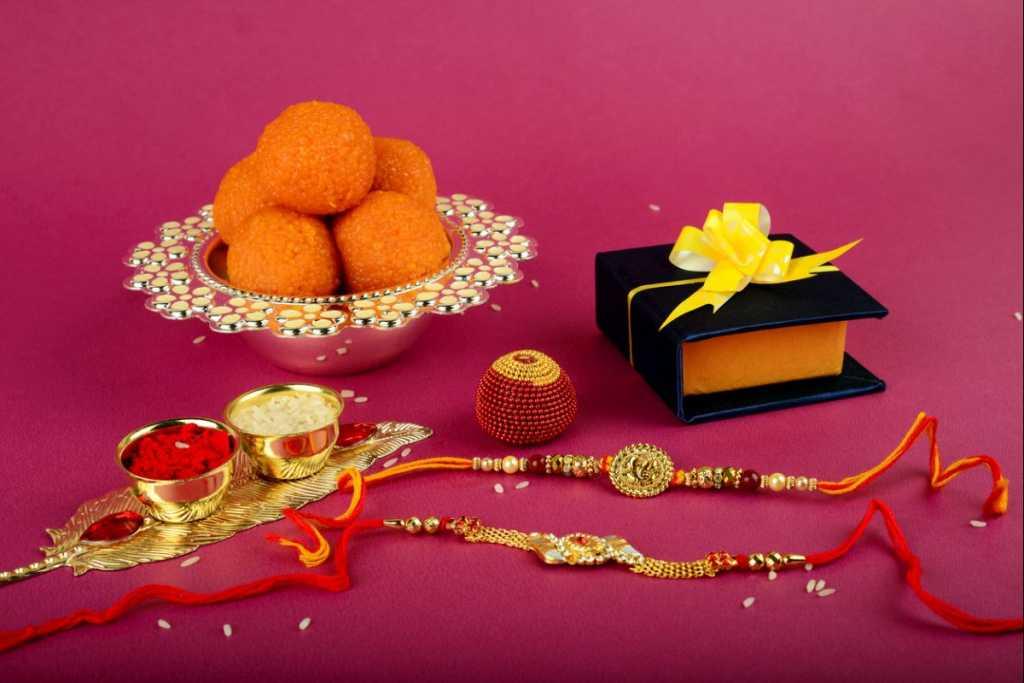 Raksah Bandhan or Rakhi, Indian festival for brothers and sisters,