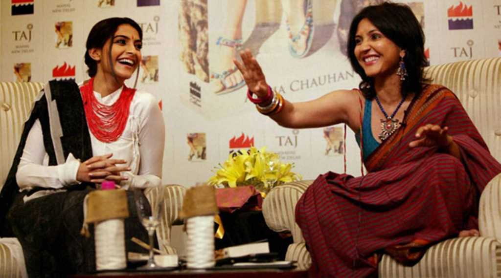 sonam with anuja chauhan