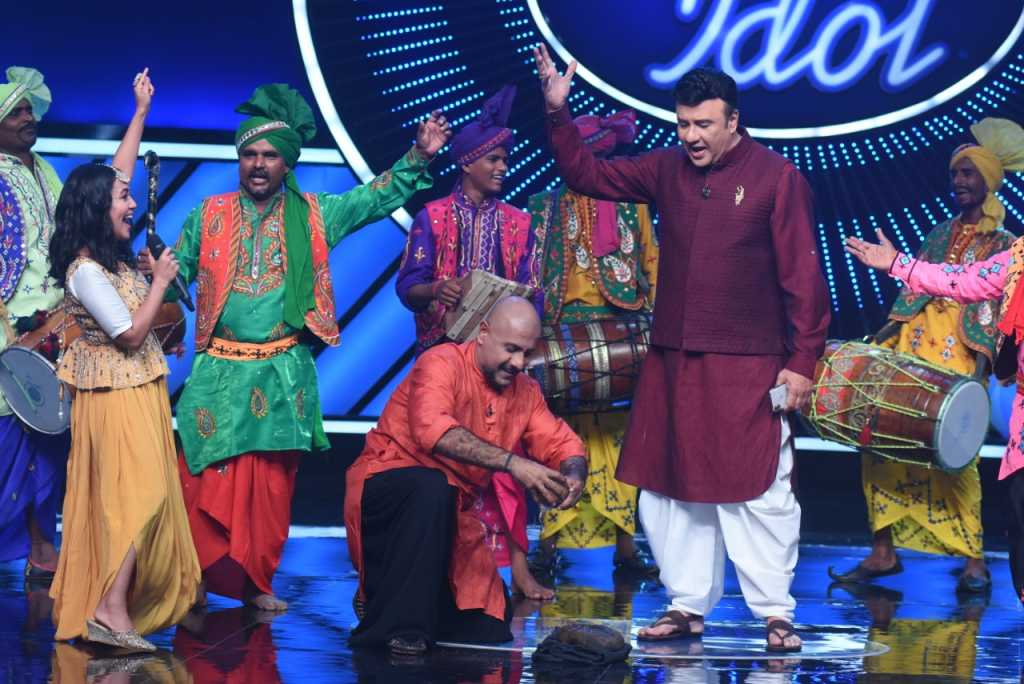 The judges pannel at Indian Idol audtions