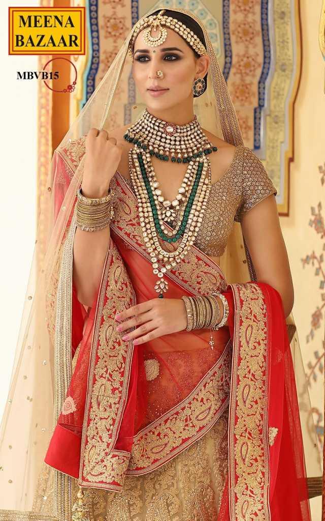 pink golden designer-lehenga-bridal