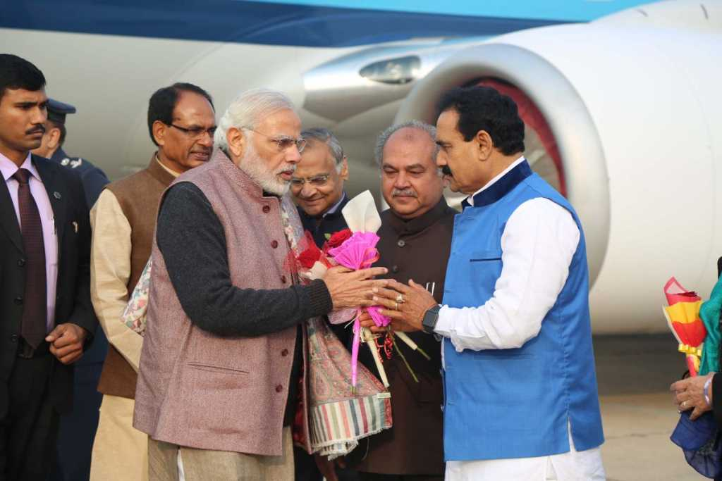 N mishra with PM