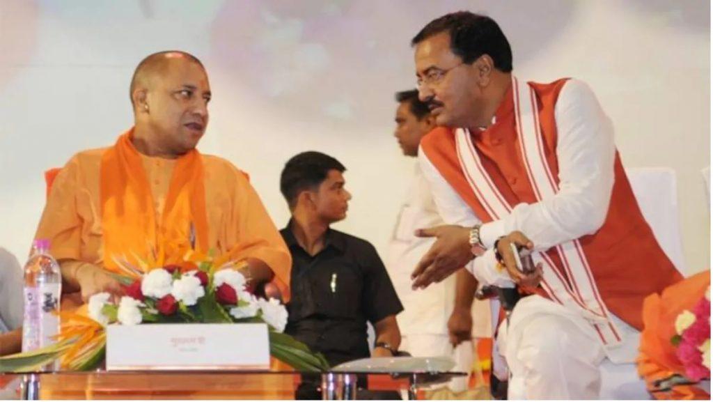 CM yogi arrives at deputy cm morya's place